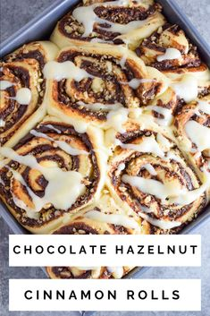 These Chocolate Hazelnut Cinnamon Rolls are a sweet, fluffy morning treat! The nutty, chocolate filling is simply irresistible!