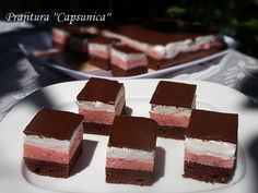 Prajitura ''Capsunica'' Sweet Recipes, Cake Recipes, Romanian Desserts, Good Food, Yummy Food, Cake Bars, Food Cakes, Easy Meals, Ice Cream