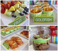Sesame Street party food tags