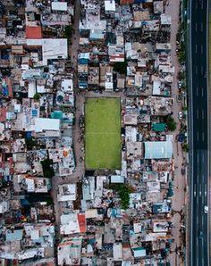 Villa 31, Buenos Aires, Argentina. Drone photo by Ale Petra ( alepetra_)