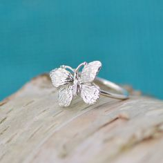 Butterfly Ring Sterling Butterfly Silver by TheJewelryGirlsPlace