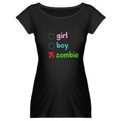 Halloween maternity tee! zombie...