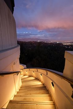 "Griffith Park Observatory—Los Angeles, CA.  Followed the stairs all the way down til I found the park trails (and men making out with MEN !) (""never get out of the boat"")  I learned my lesson!  Stay up top and look at the pretty lights!!!"