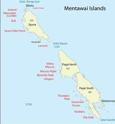 Mentawai Surf Charter Map - Navistar