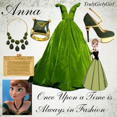 Disney Style: Anna change the shoes. Those are kinda tacky Robes Disney, Disney Character Outfits, Disney Princess Outfits, Disney Themed Outfits, Character Inspired Outfits, Disney Bound Outfits, Disney Prom, Disney Dress Up, Anna Disney