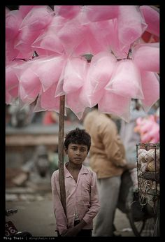 selling cotton candy, Nepal