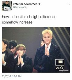 Is Mingyu growing or Jihoon is shrinking
