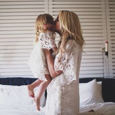 Beautiful whimsical mother daughter photoshoot