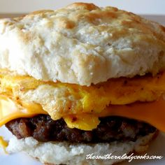 HARDEE'S BISCUIT - The Southern Lady Cooks - Not Their Recipe Blueberry Biscuits, Cinnamon Biscuits, Buttermilk Pancakes, Sourdough Biscuits, What's For Breakfast, Breakfast Recipes, Breakfast Biscuits, Breakfast Sandwiches, Breakfast Options