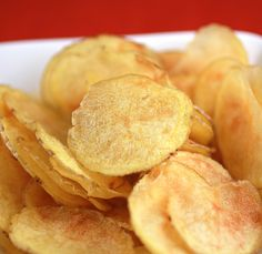 Microwave Potato Chips by foodgal #Potato_Chips #foodgal
