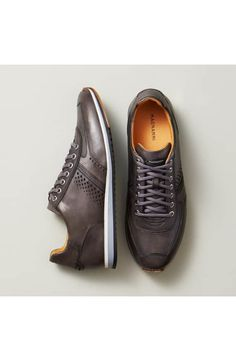Types Of Sneakers For Men. Sneakers happen to be a part of the fashion world for more than you may think. Modern day fashion sneakers carry little resemblance to their earlier predecessors but their popularity continues to be undiminished. Sneaker Dress Shoes, Loafer Shoes, Men's Shoes, Shoes Men, Casual Leather Shoes, Leather Sneakers, Casual Shoes, Men Sneakers, Mens Fashion Shoes