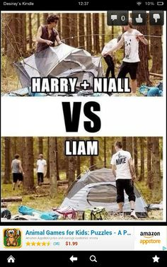 Since when does Liam know how to pitch a tent?!?