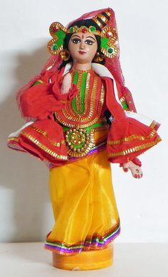 Kathakali Classical Dancer from Kerala, India - Costume Cloth Doll