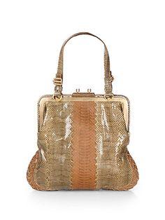 d378cf5645a Bottega Veneta - Mixed-Media Top Handle Bag - Saks.com Clothing Items,
