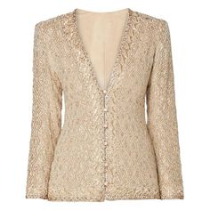 Yves Saint Laurent Haute couture ivory jacket, Autumn/Winter 1974 | From a collection of rare vintage jackets at https://www.1stdibs.com/fashion/clothing/jackets/