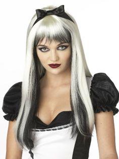 Amazon.com: California Costumes Enchanted Tresses Wig, Black/White, One Size: Clothing