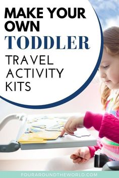 DIY Travel activity kits for toddlers and kids. Make your own travel kits for kids to keep them entertained during transit and long waits. Our top tips for great activities and items to include in your own DIY travel packs Travel Kits, Packing Tips For Travel, Travel Essentials, Travel Hacks, Toddler Travel Activities, Fun Activities For Toddlers, Family Activities, Travel With Kids, Family Travel