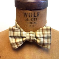 Mens / Boys Bow Tie  Geek Chic Number 53  Cream by theHouseofLux, $37.00
