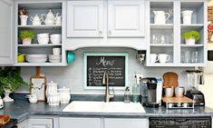 Mit etwas Kunststoff Laminat-Imitat aus dem SALE machte sie eine tolle Küchenrückwand! - DIY Bastelideen