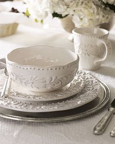 16-Piece Bianca Dinnerware Service at Neiman Marcus. Great Price!
