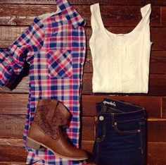 Aeropostale outfit. Plaid, boots, jeans i think i have all of the clothes to wear this