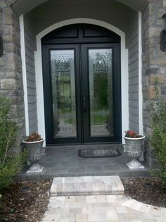 Double Door Entryway with ODL Paris Glass inserts.