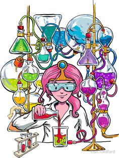 'Science With Princess Bubblegum' by Cori Redford - - 'Science With Princess Bubblegum' by Cori Redford Misc glorious cartoons Wissenschaft mit Prinzessin Bubblegum Science Icons, Science Art, Science Doodles, Princess Bubblegum, Scientist Cartoon, Chemistry Art, Chemistry Drawing, Science Drawing, Science Illustration
