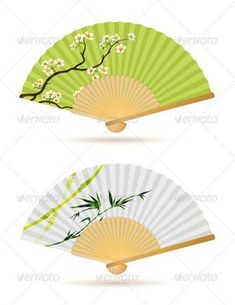 Buy Folding Fans by PixelEmbargo on GraphicRiver. Vector illustration of two japanese folding fans isolated on white. Japanese Prints, Japanese Art, Cool Umbrellas, Family Tree Wall Sticker, Red Maple Tree, Birch Tree Wedding, Chinese Element, Leaf Photography, Tree Canvas