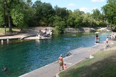 Barton Springs pool.  Freeze your ass off refreshing.  Some towns have a chlorinated pool.  Austin has... this.