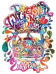 Peace and Love Colorful Illustration #PeaceAndLove