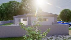 2 Bedroom House Plan BLA 107S - My Building Plans South Africa 2 Bedroom House Plans, My House Plans, My Building, Building Plans, Beautiful House Plans, Beautiful Homes, Fancy Houses, Tuscan House, Entrance Hall