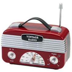 RADIO AM/FM VINTAGE VERMELHO - Laris