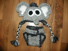 Free elephant ears crochet pattern for hat - posted by KristinNB in the comments