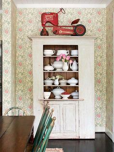 Give your vignettes spark by displaying them with unexpected items.