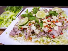 หมูมะนาว สูตรน้ำยำสุดแซ่บ หมูนุ่มมาก อร่อยเวอร์ - YouTube Thai Cooking, Cobb Salad, Recipes, Food, Rezepte, Food Recipes, Meals, Recipies, Recipe