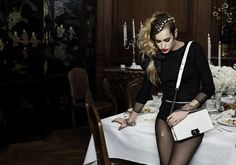 Alice Delall AW12 Chanel boy bag campaign shot by Karl Lagerfeld