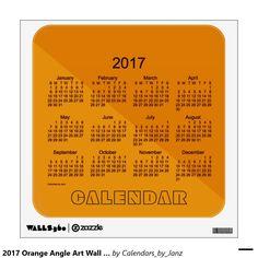 2017 Orange Angle Art Wall Calendar by Janz Room Graphics