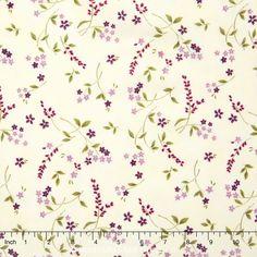 Lady Slipper Lodge - Wildflowers Vanilla Yardage - Holly Taylor - Moda Fabrics