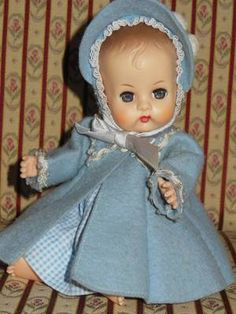 VINTAGE VOGUE GINETTE TYPE DOLL TAGGED COAT HAT