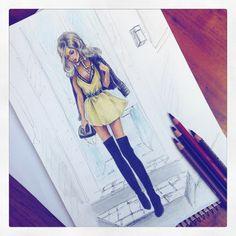 Delyais | Fashion Illustrator (@delyais) • Instagram photos and videos I Love Fashion, Fashion Art, Figure Sketching, Fashion Figures, Dress Drawing, Fashion Design Sketches, Designs To Draw, Illustration Art, Character Design