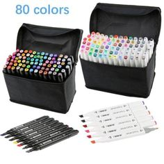 80 Colors Artist Dual Head Sketch Copic Markers Set For School Drawing Sketch SY | eBay