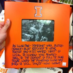 "An Illini fan- someone who bleeds orange & blue, refuses to wear purple, has a pet named ""Chief"", is loyal to Illinois, will always Hail To The Orange, is full of Illini pride, loves the Fighting Illini, was born to yell ""Oskee-Wow-Wow!"""