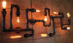 Steampunk Ceiling Light Fixture Steampunk by HanorManor on Etsy