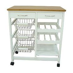 Kitchen Cart Option, HOME BASICS DELUXE KITCHEN TROLLEY