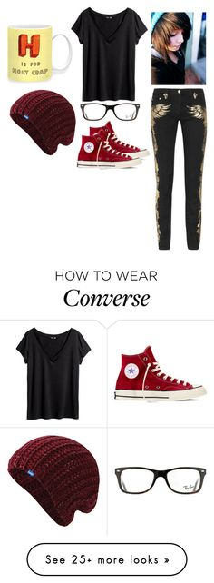 """""""Thank you for 800+ followers!"""" by kailyn-corey on Polyvore featuring Roberto Cavalli, H&M, Ray-Ban, Converse and Keds"""