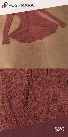 NWOT Covington knit shrug It has sparkly golden thread and eyelet designs. It looks beautiful and fashionable when worn. Bundle & get $3 off. Can't be combined with other offers. Covington Sweaters Shrugs & Ponchos