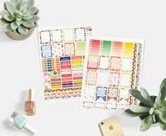 Colorful Fruits Planner Stickers, Printable Planner Stickers, Monthly Planner Kit, July Sticker Kit, Sticker for use in Erin Condren by PrintsesPlanner on Etsy https://www.etsy.com/listing/538716969/colorful-fruits-planner-stickers
