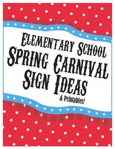 Elementary School Spring Carnival Sign Ideas & Printables - Printab...