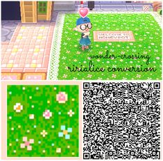 HHD to ACNL Grass Conversion - Conversion of ririalice's HHD grass path to be usable in ACNL! I really love it and just had to add the missing pieces. Animal Crossing 3ds, Nintendo Switch Animal Crossing, Animal Crossing Qr Codes Clothes, Animal Crossing Pocket Camp, Acnl Pfade, Acnl Paths, Motif Acnl, Ac New Leaf, Happy Home Designer