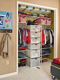 diys for your room organized boy s room closet before and after organizing 30465